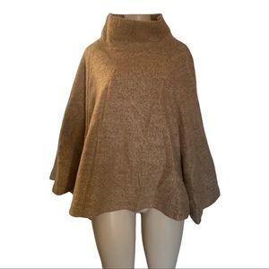 NOUL Wool Blend Sweater Poncho Cape Jacket with Arms